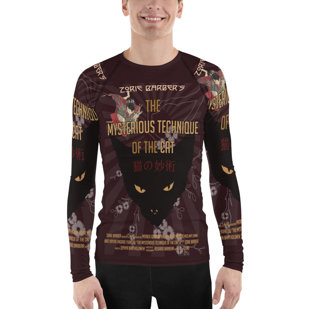 The Mysterious Technique of the Cat Poster -Rash Guard