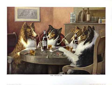 Dogs Playing Poker - The reunion - Cassius Marcellus Coolidge Art Print - 12x16 - West Coast Picture Frames LLC