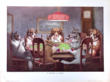 Dogs Playing Poker - A friend in need - Marcellus Coolidge Art Print - 12x16 - West Coast Picture Frames LLC