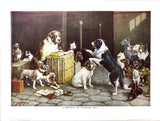 Dogs Playing Poker - A breach of a promise suit - Marcellus Coolidge Art Print - 12x16 - West Coast Picture Frames LLC