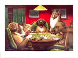 Dogs Playing Poker - A waterloo - Marcellus Coolidge Art Print - 12x16 - West Coast Picture Frames LLC