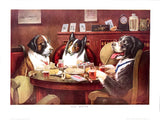 Dogs Playing Poker - Post mortem - Marcellus Coolidge Art Print - 12x16 - West Coast Picture Frames LLC
