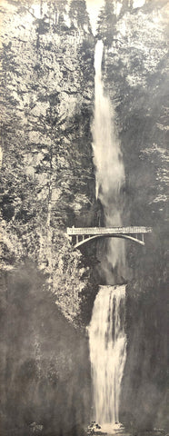 Multnomah Falls Historical Vintage Photo - Fred Kiser - 8x20 - West Coast Picture Frames LLC