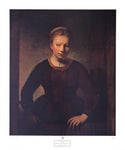 Rembrandt - Young girl at an open half-door Art Print - 22x26 - West Coast Picture Frames LLC