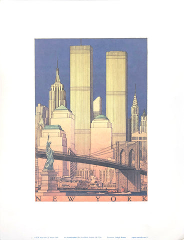 New York City Skyline - Craig S. Holmes Art Print - 13x17 - West Coast Picture Frames LLC