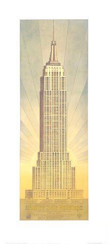 Empire State Building - New York City - Craig S. Holmes Art Print - 17.5x40 - West Coast Picture Frames LLC