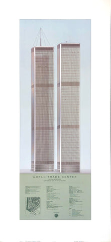 World Trade Center - New York City - Craig S. Holmes Art Print - 18x40 - West Coast Picture Frames LLC