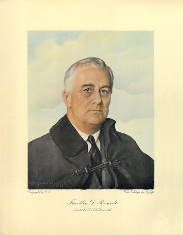 Franklin D. Roosevelt Portrait - 1943 - Elizabeth Shoumatoff Art Print - 12x15 - West Coast Picture Frames LLC