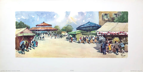The fairgrounds - A. Marc by Stehli Freres Art Print - Serie 1143 - #2 - 25x12.5 - West Coast Picture Frames LLC