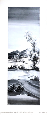 Lithography by Evelyn C. McGinnis - Desert Mood #2 - Art Print - 28x12 - West Coast Picture Frames LLC