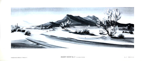 Lithography by Evelyn C. McGinnis - Desert Mood #3 - Art Print - 28x12 - West Coast Picture Frames LLC