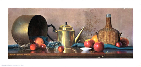 Still-life scene from 1966 by Robert Douglas Hunter Art Print - Apples - 8x17 - West Coast Picture Frames LLC