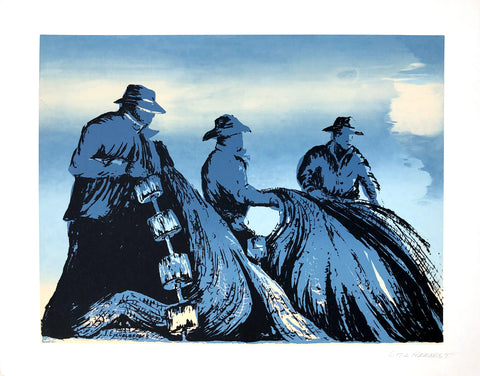 Sea Harvest serigraphy by Jim Eichelberger - Art Print - 14x11 - West Coast Picture Frames LLC