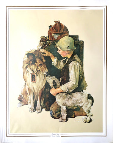 Norman Rockwell Art Print - Friends in need - 28x22 - West Coast Picture Frames LLC