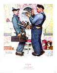 Norman Rockwell Art Print - The plumbers - 14x11 - West Coast Picture Frames LLC