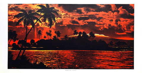 Hawaiian Sunset picture - 12x22 - West Coast Picture Frames LLC