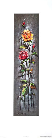 Art Print Lithograph of Max Urban - Flower Serie 1328 - #2 - 24x9 - West Coast Picture Frames LLC