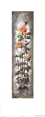 Art Print Lithograph of Max Urban - Flower Serie 1328 - #4 - 24x9 - West Coast Picture Frames LLC