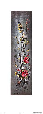Art Print Lithograph of Max Urban - Flower Serie 1328 - #5 - 24x9 - West Coast Picture Frames LLC