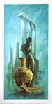 Vintage greek lithograph by Frans Van Lamsweerde - back statue - 24x12 - West Coast Picture Frames LLC
