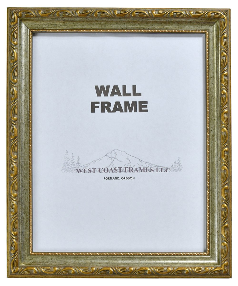 miniature 3 - Picture Frame Antique Gold or Silver with Gold Filagree Finish