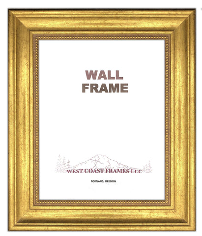 Picture Frame Antique Style with beads - Gold