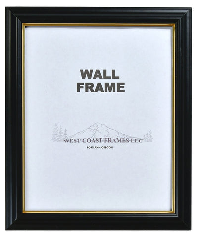 Picture Frame with Glass - Black or Cherry with Gold