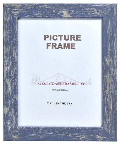 Picture Frame Shabby Chic Finish - Blue - Red - White - MADE IN USA