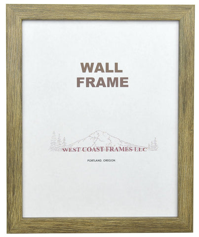 Picture Frame Brown Barnwood Finish - MADE IN USA - 72029
