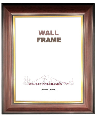 Picture Frame Burgundy and Gold Traditional - 520CHG