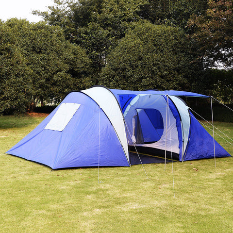 8 Person/Man Waterproof C& 2+1 Room Hiking C&ing Tunnel Family Tent free : cheap 8 man tents uk - memphite.com