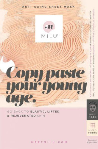 Copy Paste Your Young Age - Anti Aging sheet mask - Cardamomo