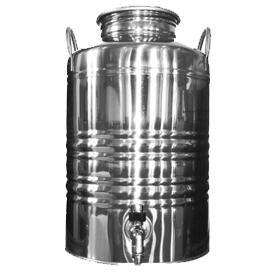Superfustinox Stainless Steel Fusti with Spigot -- 12 liter