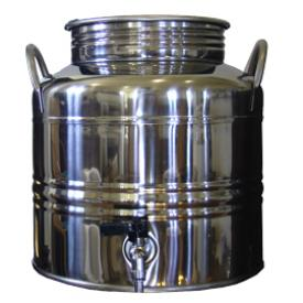 Superfustinox Stainless Steel Fusti with Spigot -- 15 liter