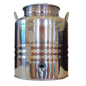 Superfustinox Stainless Steel Fusti with Spigot -- 20 liter