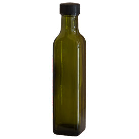 250ml Quadra Antique Green with Hand-Applied ROPP Top Integral Pourer