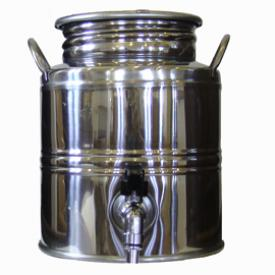 Superfustinox Stainless Steel Fusti with Spigot -- 3 liter
