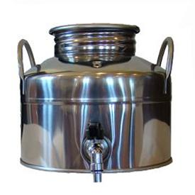 Superfustinox Stainless Steel Fusti with Spigot -- 5 liter