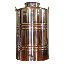 Superfustinox Stainless Steel Fusti with Spigot -- 100 liter