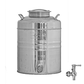 Sansone Welded Stainless Steel Fusti with Spigot -- 20 liter