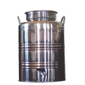 Superfustinox Stainless Steel Fusti with Spigot -- 25 liter