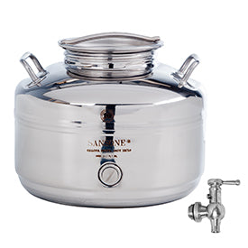 Sansone Welded Stainless Steel Fusti with Spigot -- 10 liter