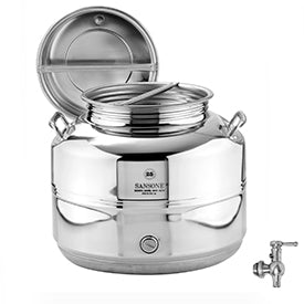 Sansone Welded Stainless Steel Fusti with Spigot -- 25 liter