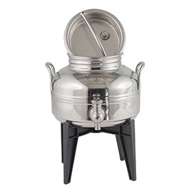 Sansone Welded Stainless Steel Fusti with Spigot and Stand -- 2 liter