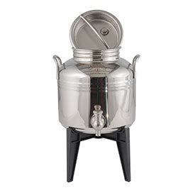 Sansone Welded Stainless Steel Fusti with Spigot and Stand -- 3 liter