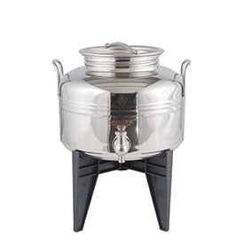 Sansone Welded Stainless Steel Fusti with Spigot and Stand -- 5 liter