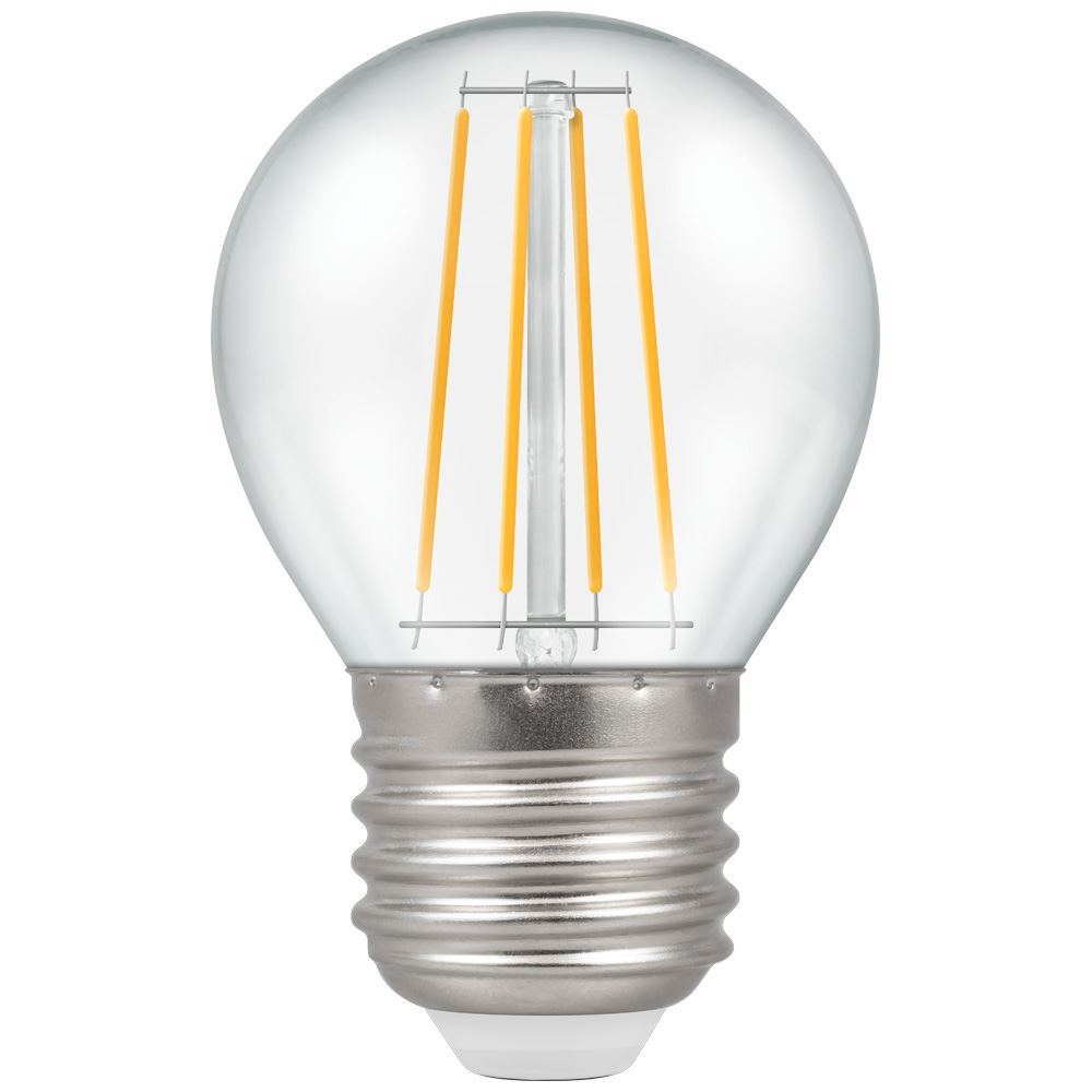 LED Round Filament Clear • Dimmable • 5W • 2700K • ES-E27