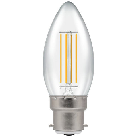 LED Candle Filament Clear • Dimmable • 5W (40W) • 2700K • BC-B22d