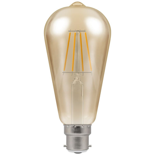 LED ST64 Filament Antique • Dimmable • 7.5W • 2200K • BC-B22d