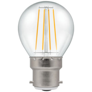 LED Round Filament Clear • Dimmable • 5W • 2700K • BC-B22d